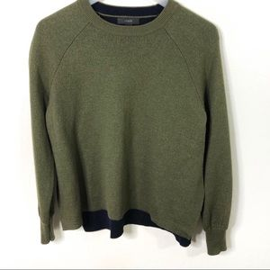 Jcrew dark green sweater